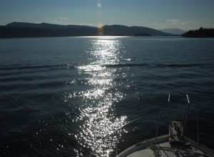 Leaving Selby Cove. Going Towards Salt Spring Island.