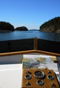 Circumnavigating Prevost Island.